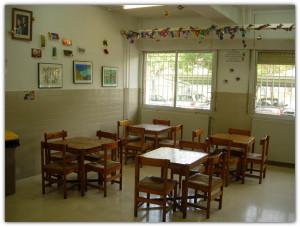 Detalle de la cafeteria del Centro Educativo