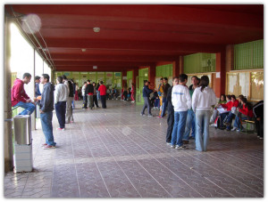 Imagen del patio del Centro Educativo